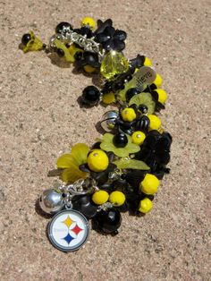 STEELERS GARDEN ooak Pittsburgh Steelers NFL Charm Bracelet