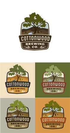 Cottonwood Brewing Company Logo Design by Sesecu