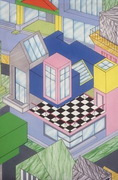 Georg J. Sowden, architectural drawings, 1984. For Memphis Milano