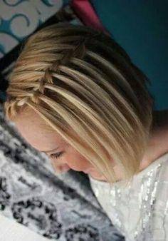 Um lindo penteado simples mais para o dia dia
