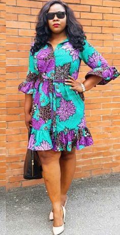 18 curly styles for black women weave women styles summer Short African Dresses, African Blouses, Latest African Fashion Dresses, African Print Dresses, African Print Fashion, African Traditional Dresses, African Attire, Kitenge, Black Women