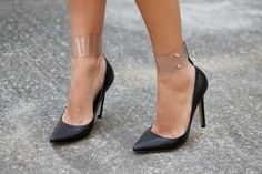 Attach a transparent ankle strap | Community Post: 26 Ways To Pimp Your Pumps