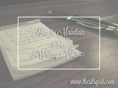 How to maintain your writing voice no matter what kind of blog post you are writing, so your readers know what to expect from you.