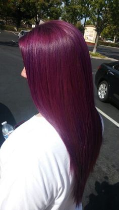 Hair color Purple hair Although there are a number of reasons why you should including buying new ki Pretty Hair Color, Hair Color Purple, Hair Color And Cut, Purple Burgundy Hair, Red Violet Hair, Ombre Hair, Ombre Bob, Plum Hair, Brown Hair