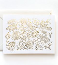 Gold Floral Pattern Card from Rifle Paper Co.