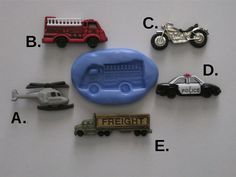 Firetruck Motorcycle Police Car Helicopter Freight by BakersToyBox