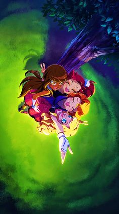 Bff Old Cartoons, Disney Cartoons, Disney Fantasy, Fantasy Art, Dessin Lolirock, Les Lolirock, Glitter Force, Wonderful Picture, Pretty Cure