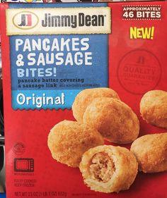 Jimmy Dean Pancake & Sausage Bites Frozen Breakfast, Eat Breakfast, Breakfast Recipes, Snack Recipes, Snacks, Breakfast Ideas, Bacon Toaster, Pancake Sausage, Pregnancy Cravings