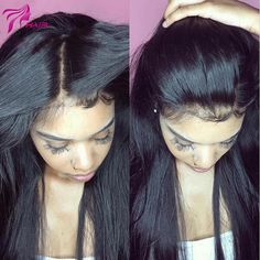 Luffy Brazilian Hair 5x4.5 Silk Base Full Lace Human Hair Wigs With Baby Hair For Black Women Non Remy Silky Straight Natural Color