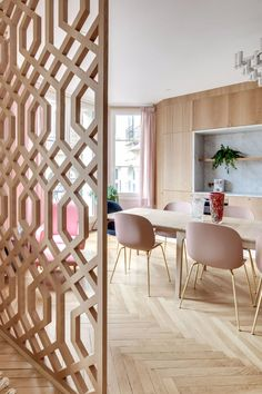 58 Cozy Room Divider for Small Apartments - Raumteiler Metal Room Divider, Room Divider Walls, Room Divider Screen, Living Room Partition, Room Partition Designs, Wood Partition, Luxury Rooms, Cozy Room, Small Apartments