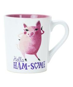 Look at this #zulilyfind! 'Hello Ham-Some' 20-Oz. Mug #zulilyfinds