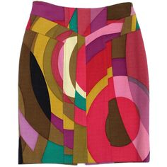 Pre-owned Tracy Reese Multi-Color Abstract Print Wool Skirt ($69) ❤ liked on Polyvore featuring skirts, woolen skirt, colorful skirts, tracy reese, multi colored skirt and multi color skirt