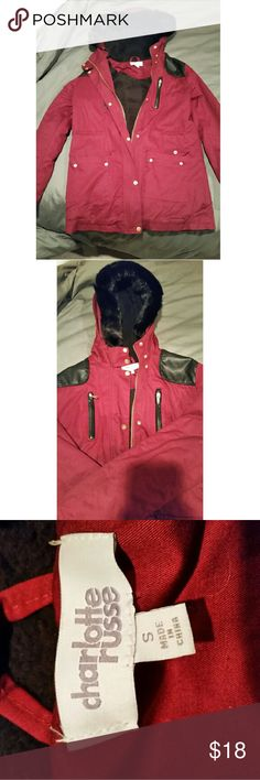 Maroon winter jacket Heavier weight winter jacket. Never worn. Charlotte Russe Jackets & Coats