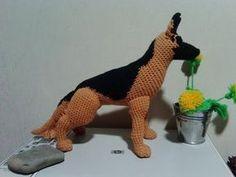 Немецкая овчарка, ч.1. German Shepherd, р.1. Amigurumi. Crochet. Амигуруми. Игрушки крючком. - YouTube