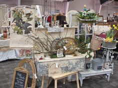 antique mall booth display ideas | just loved how my center display turned out... The perfectly chippy ...