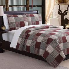 Ridgecrest II Red Fawn 3-piece Quilt Set