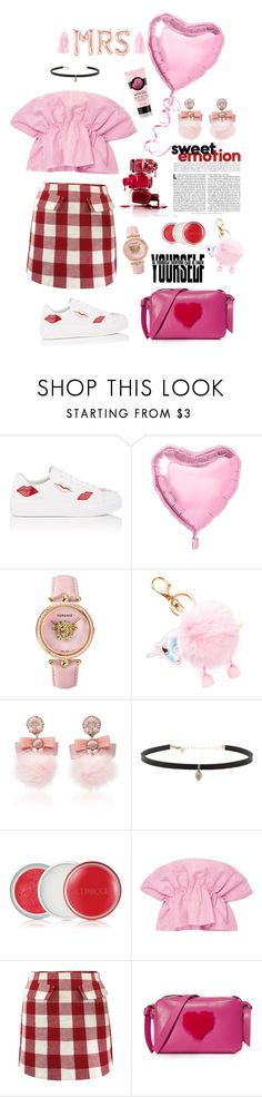 """""""#231"""" by thuhanguyen-1712 ❤ liked on Polyvore featuring Prada, Versace, Ranjana Khan, Carbon & Hyde, Clinique, Viva Aviva and Anya Hindmarch"""