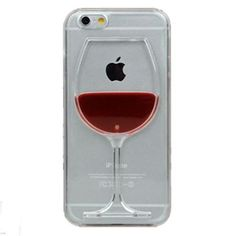 iPhone Case Red Wine Cup Liquid Transparent Case For Apple iPhone Phone Cases Back Covers