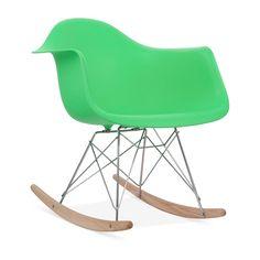 Green Eames Style RAR Rocker Chair | Wooden Rocking Chairs | Cult UK