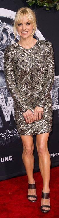 Who made  Anna Faris' silver sequin mini dress?