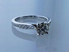 1.38 Carat Solitaire Round Diamond H VS2 GIA USA Engagement Ring #LionDiamondsGroup #Solitaire