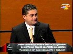 Dip. Luis Ángel Espinosa Cházaro (PRD) - Otorgamiento de permisos para casinos - YouTube