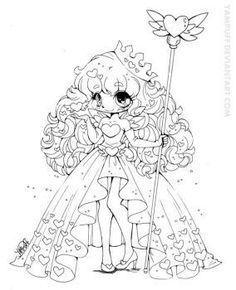 Queen Of Hearts Lineart Coloring Page