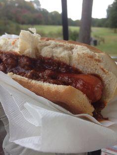 hotdog in Hillandale golf course