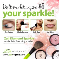 Because Zuii Organic Diamond Sparkle REFRACTS instead of reflecting light, now you can Sparkle at ANY age!! Don't let anyone dull your sparkle, we sure don't!