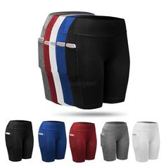 Compression Women Sports Yoga Workout Pants Running Fitness Gym Stretch Shorts