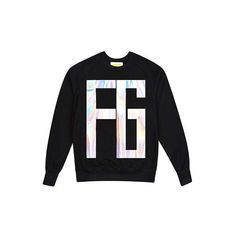 FYODOR GOLAN Hologram Sweater (360 CAD) via Polyvore featuring tops, sweaters, hologram top, unisex tops, holographic top, cotton sweater and unisex sweaters