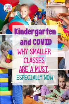 Kindergarten and COVID – Why smaller kindergarten classes are a must Kindergarten Teachers, Kindergarten Classroom, Classroom Activities, Learning Activities, A Classroom, Early Childhood Education, Elementary Education, Classroom Environment, Health Department