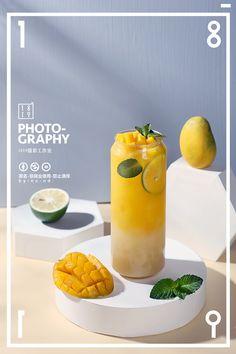 Food Graphic Design, Food Poster Design, Menu Design, Food Design, Green Tea Crepe Cake, Mango Drinks, Coffee Shop Interior Design, Food Therapy, Fruits Photos