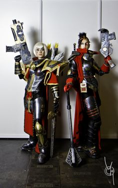Because Cosplay is a great passion    My sister and I as Sisters of Battle from Warhammer 40K