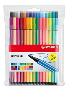 Stabilo 6830-1 Pen 68 Premium-Fasermaler, 24+6 neon Etui |Amazon.de: Bürobedarf & Schreibwaren