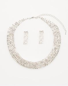 Gem Encrusted Necklace and Earring Set.  just like necklace
