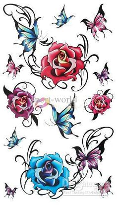 pictures of tattoo flowers and butterflies - Google Search