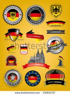 "1 NEW Euro Badge Emblem German Germany Deutschland Country Oval /""D/"" Coat of Arms"