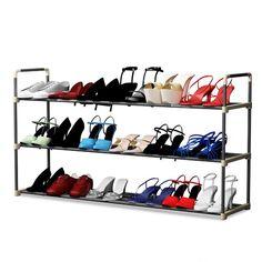 New 3 Tier 18 Pair Shoe Rack by Rebrilliant. Shoe Storage Organiser, Shoe Storage Cabinet, Toilet Storage, Shoe Organizer, Closet Storage, Storage Shelves, Storage Organization, Shelving, Storage Chest