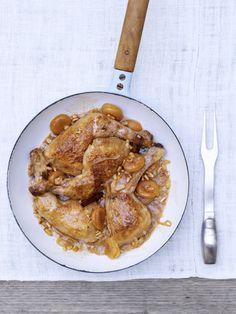 kip met abrikozen en pijnboompitten