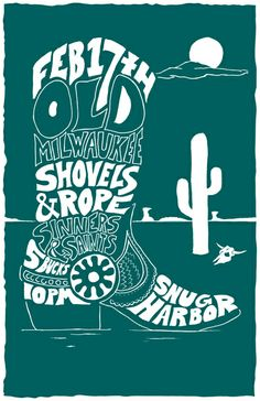 GigPosters.com - Sinners & Saints - Shovels & Rope - Old Milwaukee