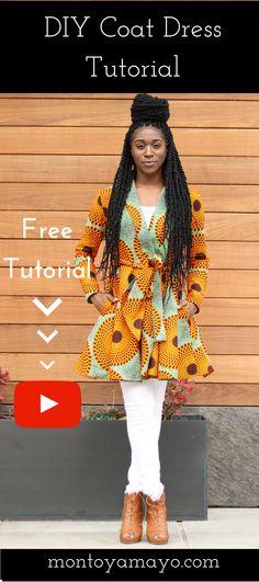 African Print Fashion, African Print Coat, African Print Jacket, African Print Dress, DIY Jacket, How to sew a jacket, DIY Dress, Coat Dress, Wrap Dress, sewing for beginners, sewing tutorials, Modern African Fashion, Ankara Skirt, Ankara Fashion, DIY Maxi Skirt, Maxi Skirt, Learn to Sew, DIY Fashion, Sewing Clothing, African fashion styles, Kitenge, Nigerian Style, Ghanaian fashion, Gele, African Wedding, African Women Dresses, Ankara