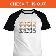 Idakoos - Xaria repeat retro - Female Names - Raglan T-Shirt - Retro shirts (*Amazon Partner-Link)
