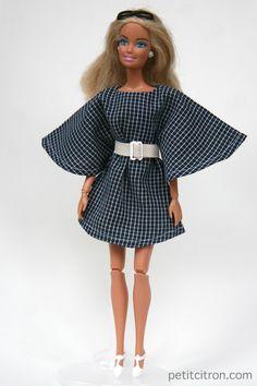 Nouveau patron pour Barbie : la robe ange (et la ceinture!) | tutoriels de couture | Blog de Petit Citron