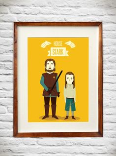 House Stark. Game of Thrones. #desin #poster