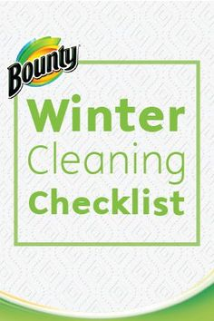 This quick and easy Winter Cleaning Checklist will help make all your holiday house preparation a cinch. From cleaning your floors to giving the front yard a once-over, these tips and tricks from Bounty Paper Towels will keep you on your toes and your home in tip-top shape!
