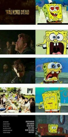 Everyone's reaction to TWD season 7 premier... told by Spongebob