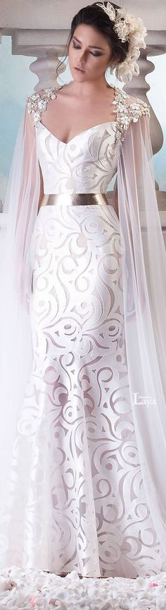♔LAYA♔HANNA TOUMA S/S 2015 COUTURE♔ she looks like a godess. I love it