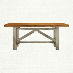 Amish craftsmen build the Holmes Dining Table—using an antique artisan workbench we discovered in our travels as inspiration. Evidence of the origina