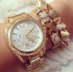 Gold diamond watch and bracelets fashion cute girl jewelry bracelets gold diamond watch Small Drawstring Bag, Gold Diamond Watches, Stackable Bracelets, Jewelry Bracelets, Stylish Watches, Girls Jewelry, Selling Jewelry, Fashion Bracelets, Fashion Jewelry